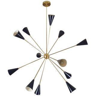 "Sculptural Brass and Enamel ""Spore"" Chandelier by Blueprint Lighting, 2017 For Sale"