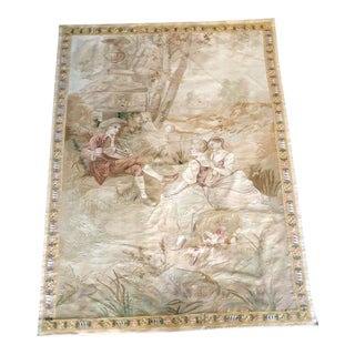 19th Century French Vouveh Quality Tapestry - 5' X 7' For Sale