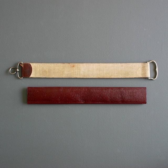 Antique Barber's Razor Strop From England - Image 5 of 7