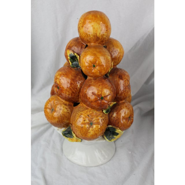 Vintage Mid-Century Italian Orange Fruit Centerpiece Topiary For Sale In New York - Image 6 of 6