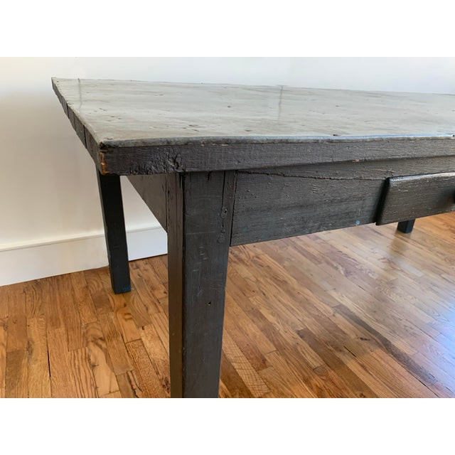 19th Century French Zinc Top Baker's Table For Sale - Image 4 of 7
