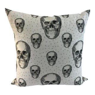 Black & White Skull Pillow