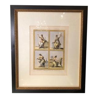 Antique 18 C Framed Engraving W Putti, Gerhardt H. Felgemaker London 1777 For Sale