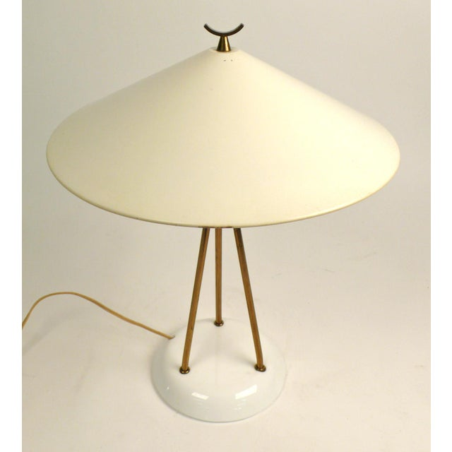 Mid-Century Modern Lightolier Vitrolite Lamp For Sale - Image 3 of 7