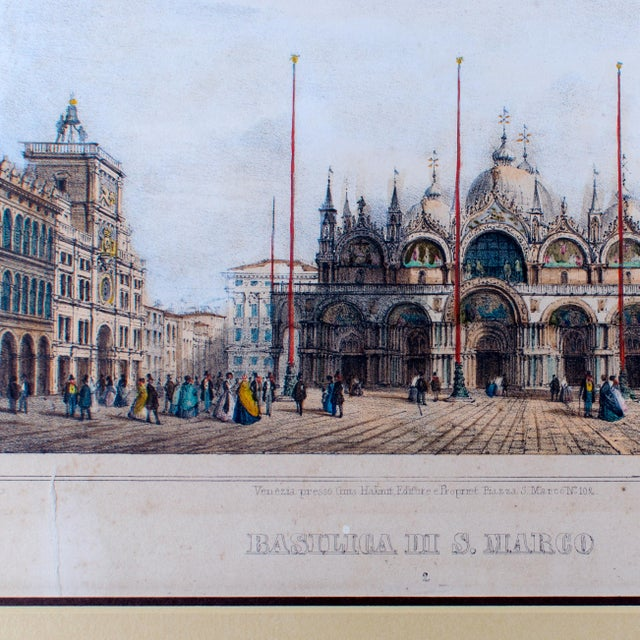 Basilica Di San Marco Antique Engraving For Sale - Image 4 of 5