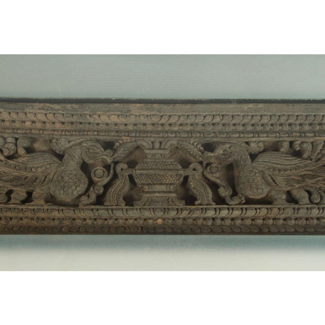 Asian Architectural Relief Made Into a Coffee Table For Sale In Los Angeles - Image 6 of 9