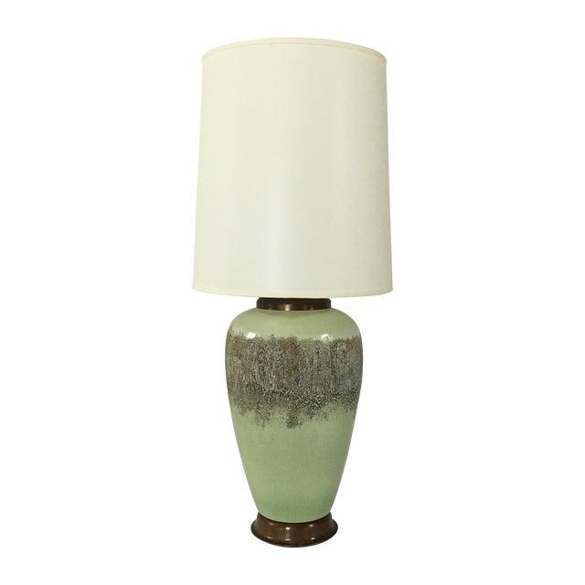 Mid-Century Modern Lamp in Pistachio - Image 1 of 7