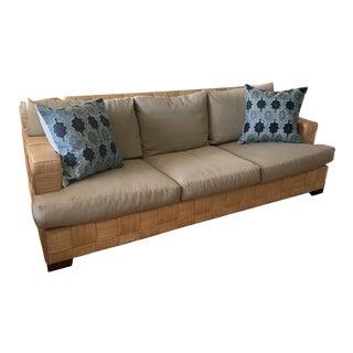 John Hutton for Donghia Block Island Rattan Sofa For Sale