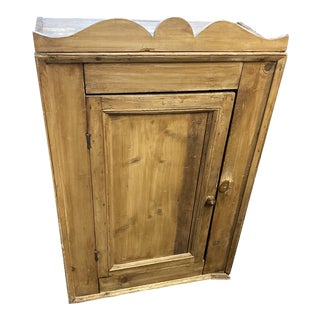English Bleach Pine Small Cupboard For Sale