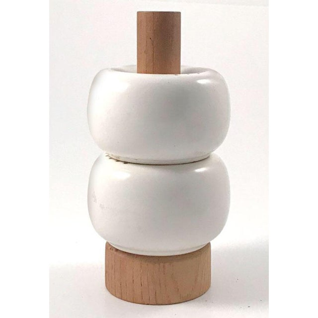 1960s 1960 Vintage Op Art Danish Modern Salt and Pepper Shakers For Sale - Image 5 of 6
