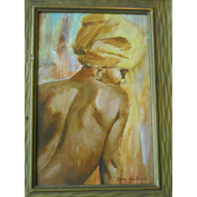 Vintage Oil Painting of a Creole Woman - Image 4 of 6