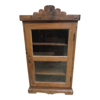 Antique Primitive China Cabinet Cupboard For Sale