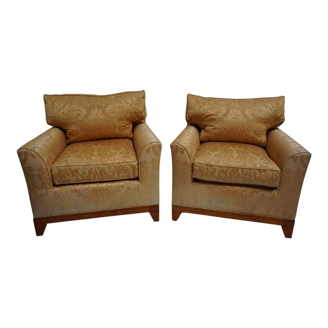 Fortuny Style Club Chairs-A Pair For Sale