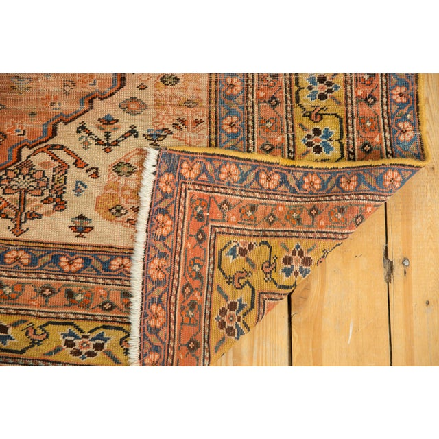 """Antique Qashqai Rug - 4'11"""" X 6'4"""" For Sale - Image 10 of 13"""