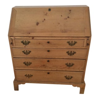 Pine Slant Front Desk Secretary For Sale