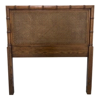 Boho Chic Dixie Faux Bamboo Twin Caned Headboard For Sale