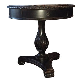 Tuscan Ornate Base 1-Drawer Side/Center Table For Sale