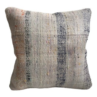Vintage Turkish Decorative Cotton Kilim Pillow Cover For Sale