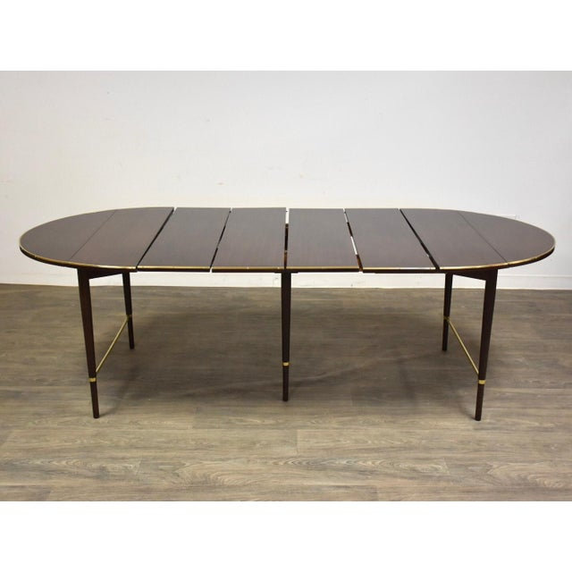Metal Paul McCobb Mahogany and Brass Dining Table For Sale - Image 7 of 13