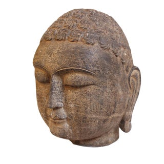 Black Stone Buddha Head For Sale