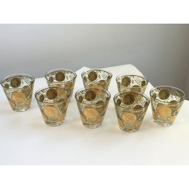 Culver Gold Liberty Coin Glasses - Set of 8 - Image 5 of 7