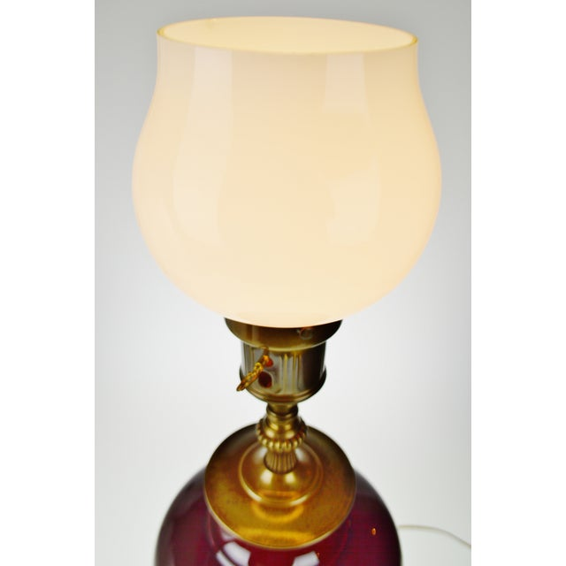 Vintage E. F. Chapman Style Torchiere Table Lamp With Diffuser For Sale In Philadelphia - Image 6 of 13