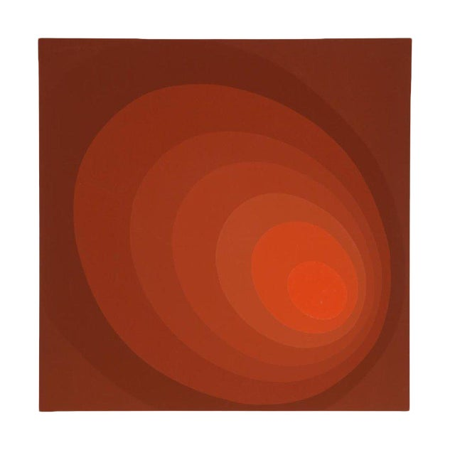 """Leonid """"Untitled (Red Ombre)"""" Silkscreen Print For Sale"""