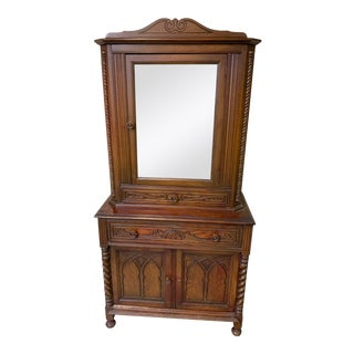 Antique Wooden Display Cabinet For Sale