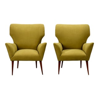 Italian Mid Century Modernist Butterfly Style Armchairs - a Pair For Sale