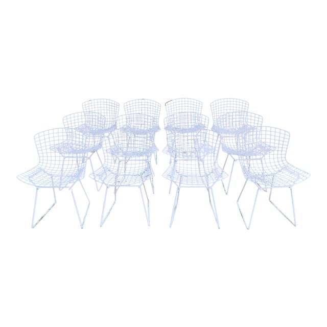Late 20th Century Bertoia Outdoor Side Chairs- Set of 12 For Sale