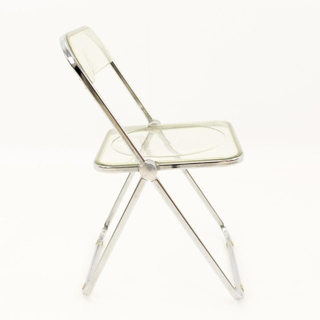 Vintage Mid Century Anonima Castelli Italian Lucite Folding Chairs- Set of 6 For Sale In Chicago - Image 6 of 11