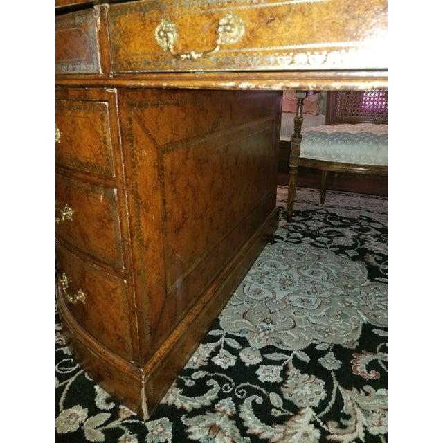 Metal 20th Century Regency Maitland Smith Partner Desk For Sale - Image 7 of 8