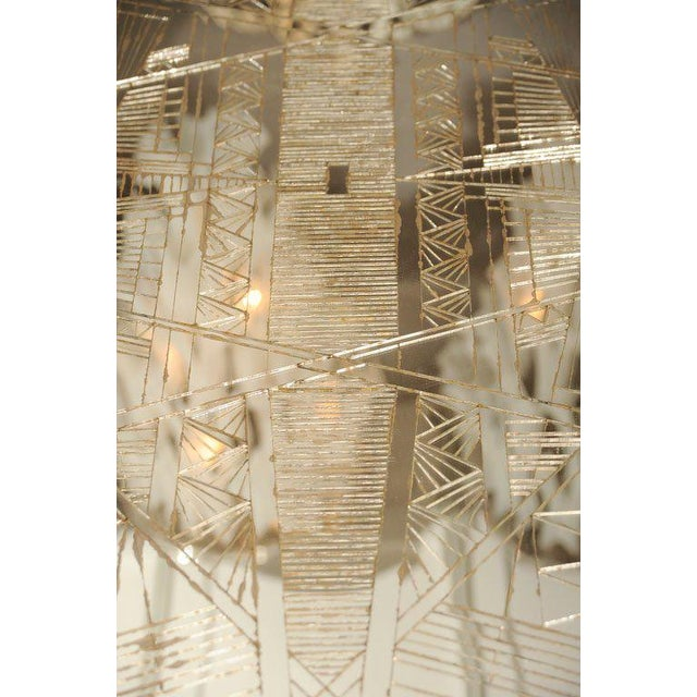 Glass French Art Deco Style Mirrored Table For Sale - Image 7 of 10