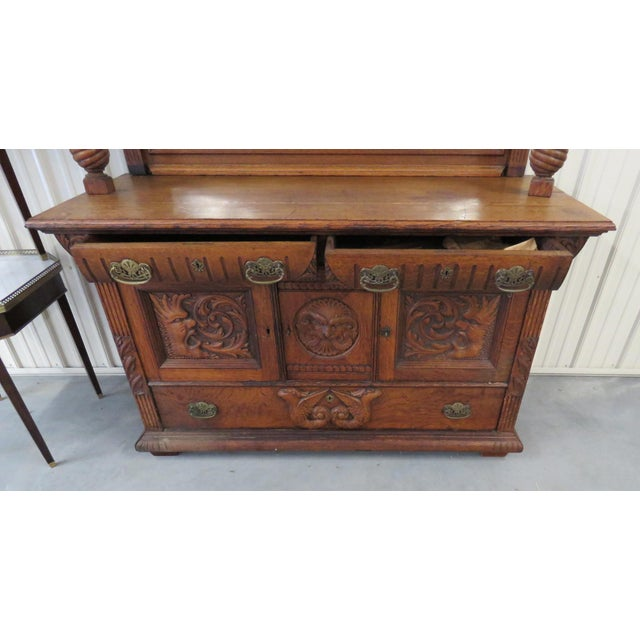 Early 20th Century Renaissance Style Sideboard With Superstructure For Sale In Philadelphia - Image 6 of 9
