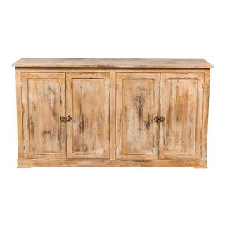 Sarreid Four Door Elm Sideboard, Antique Oak For Sale