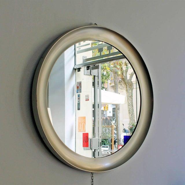 1960s 1960´s Narciso mirror by Sergio Mazza, aluminium frame - Italy For Sale - Image 5 of 9