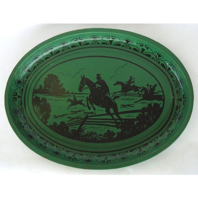 Art Deco Silhouette Equestrian Tin Tray - Image 2 of 3