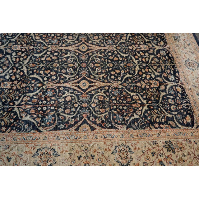 Metal 8' X 9' Vintage Wool Peshawar Oriental Rug For Sale - Image 7 of 11