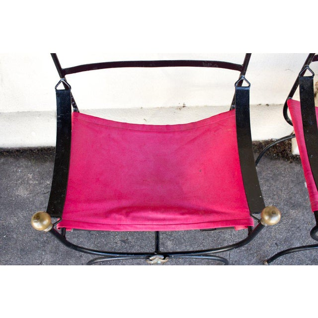 Antique Savonarola Armchairs - A Pair - Image 5 of 11