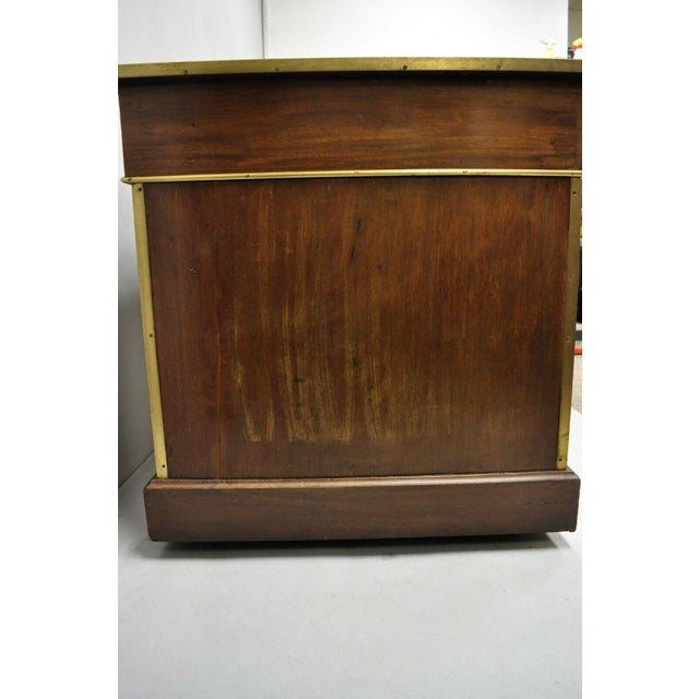 19th Century Campaign Mahogany Partner Desk For Sale - Image 10 of 13