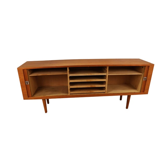 """An absolutely stunning teak wood credenza model RY-25 """"President"""" collectors credenza designed by Hans Wegner, and..."""
