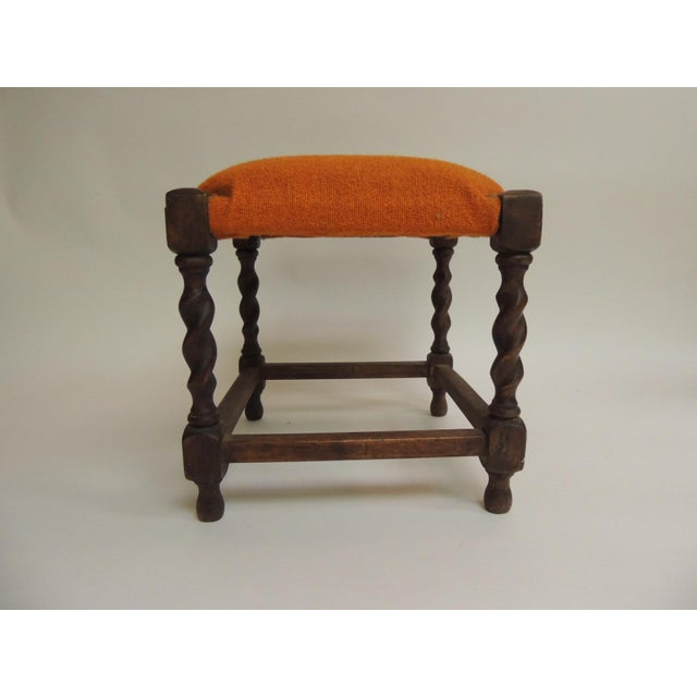 Small Arts & Crafts Square Vintage Milking Stool For Sale - Image 4 of 5