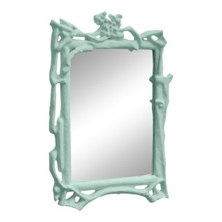 Stray Dog Designs for Chairish Magalie Mirror, Light Blue For Sale