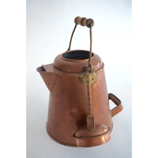 Antique Copper & Brass Kettle - Image 3 of 11