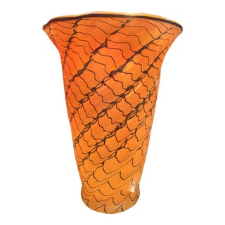 Lundberg Studios Art Glass Vase For Sale