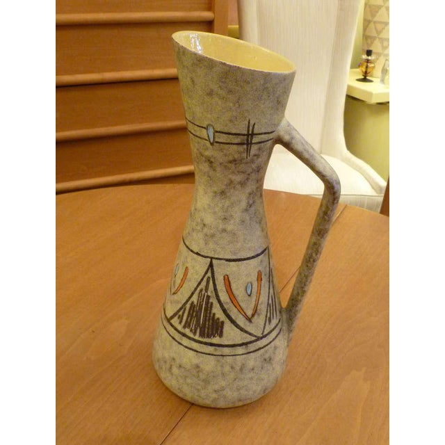 Mid-Century Modern Tall 50s German Ewer Form Vase by Scheurich For Sale - Image 3 of 9