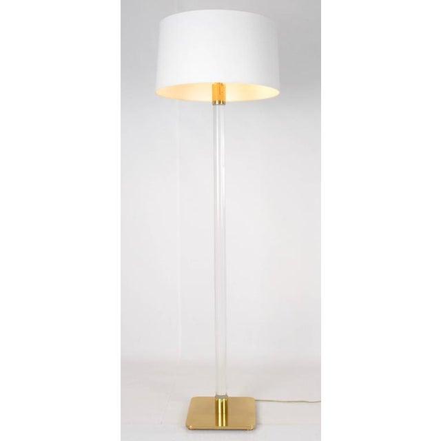 Hansen Glass and Brass Floor Lamp Usa, 1970 - Image 9 of 9