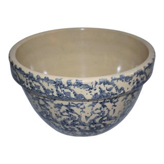 Early 20th Century Spongeware Mixing Bowl For Sale
