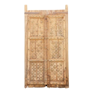18th Century Teak and Brass Raj Doors For Sale