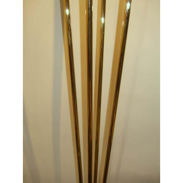 Gold Relux of Milan Italy Brass Halogen Torchiere For Sale - Image 8 of 9